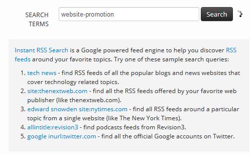 Suchmaschine für RSS-Feeds