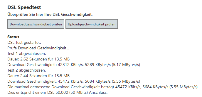 DSL Speed Test
