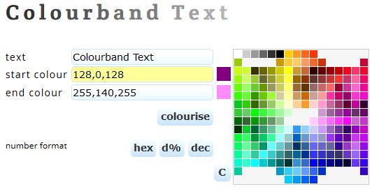 Farbiges Wort erstellen
