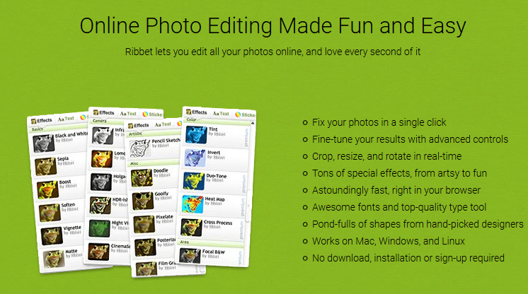 Online-Bildverarbeitungsprogramm