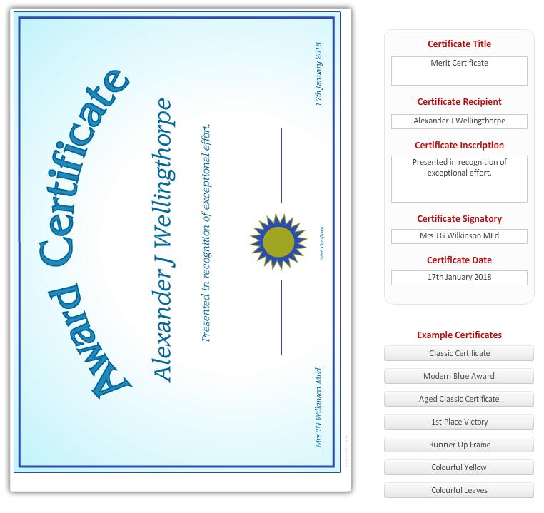 Zertifikat Generator