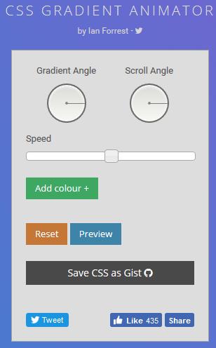 CSS Farbverlauf-Generator