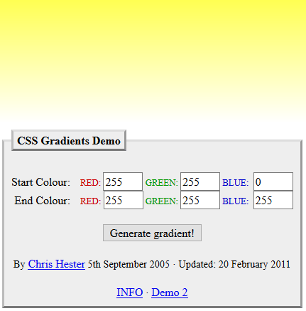 CSS Gradients Demo