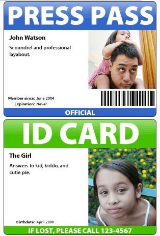 Badge und Presseausweis erstellen