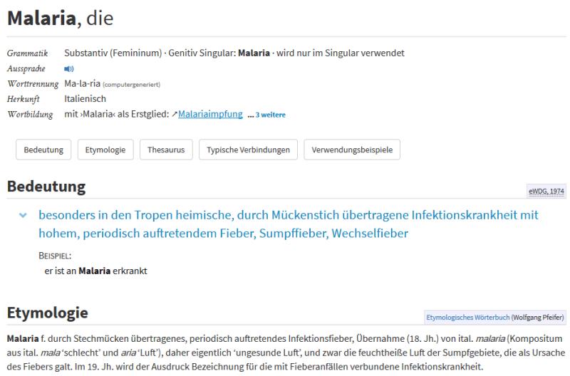 Wortauskunftssystem zur deutschen Sprache