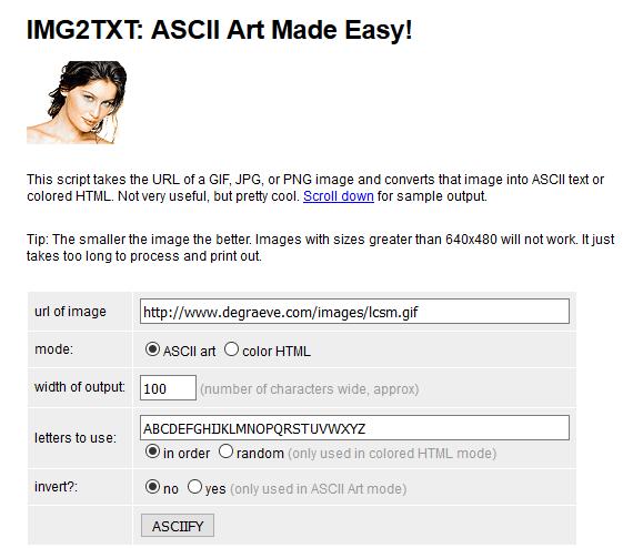 ASCII-Grafik erstellen: ASCII Art Made Easy