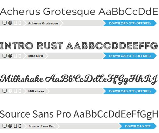 Fonts zur Auswahl