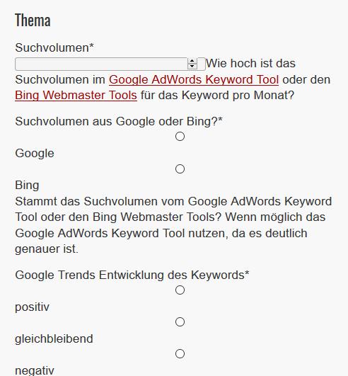 Google AdSense Einnahmen einer neuen Website schätzen