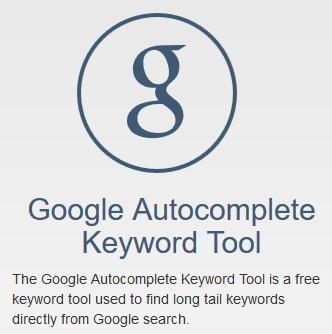 Google Autocomplete Keyword Tool
