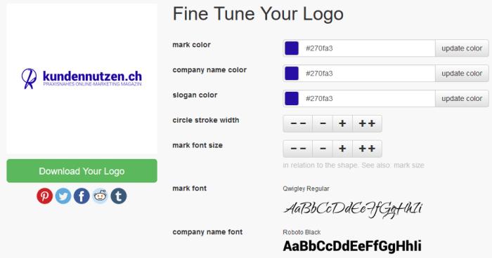 Logo erstellen mit einem Generator