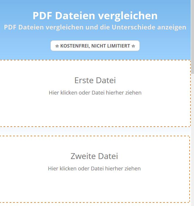 PDF Dateien vergleichen