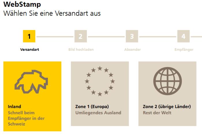 Schweizer Briefmarke erstellen