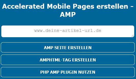 Google AMP-Seiten erstellen