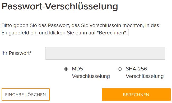 Passwort-Verschlüsselung