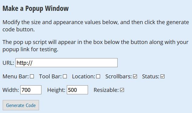 Ein Popup-Fenster erstellen
