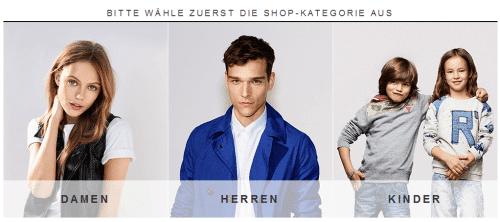 Zalando-Homepage